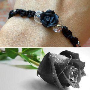 Black 🥀 Rose mystical braided bracelet